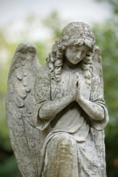Angel of stone praying